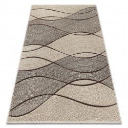 Carpet FEEL 5675/15033 WAVES brown / beige / gray