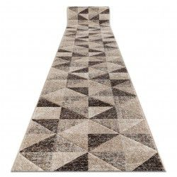 Runner FEEL 5672/15055 TRIANGLES beige / brown / cream