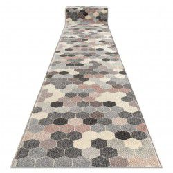 Runner HEOS 78537 grey / pink / cream HEXAGON