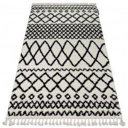 Carpet BERBER SAFI N9040 white / black Fringe Berber Moroccan shaggy