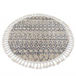 Carpet BERBER AGADIR G0522 circle cream / grey Fringe Berber Moroccan shaggy