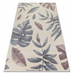 Carpet HEOS 78428 cream / pink LEAVES MONSTERA
