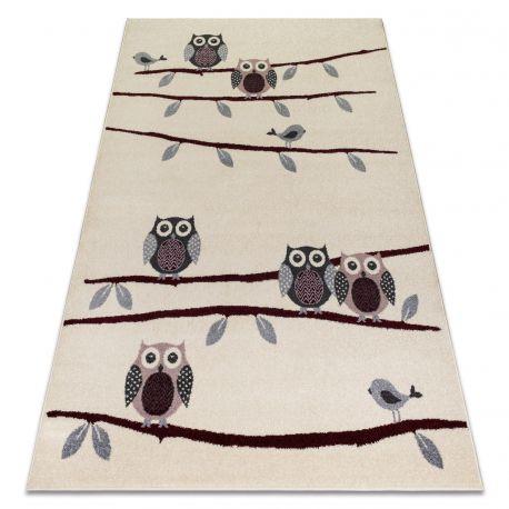 Carpet HEOS 78465 cream / claret OWLS