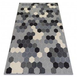 Carpet HEOS 78537 grey / cream HEXAGON