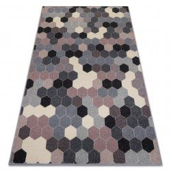 Carpet HEOS 78537 grey / pink / cream HEXAGON