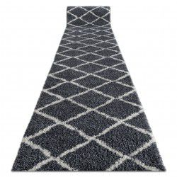 Runner BERBER CROSS B5950 grey Berber Moroccan shaggy