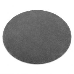 Carpet, round STAR grey