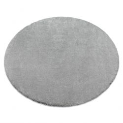 Carpet, round STAR silver