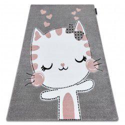 Carpet PETIT KITTY cat grey