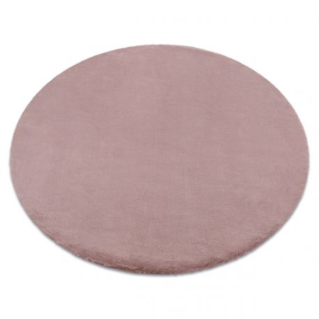 Carpet BUNNY circle pink IMITATION OF RABBIT FUR