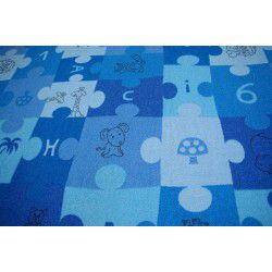 Carpet wall-to-wall PUZZLE blue
