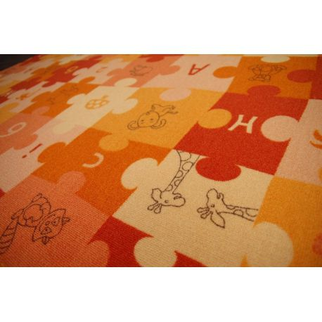Carpet wall-to-wall PUZZLE orange