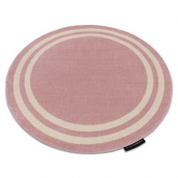 Carpet HAMPTON Frame circle blush pink