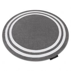Carpet HAMPTON Frame circle grey