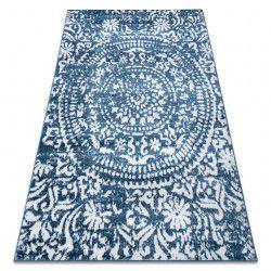 Carpet RETRO HE183 blue / cream Vintage
