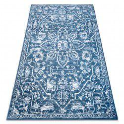 Carpet RETRO HE184 blue / cream Vintage