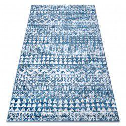 Carpet RETRO HE187 blue / cream Vintage
