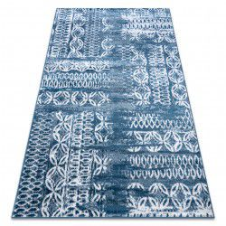 Carpet RETRO HE191 blue / cream Vintage