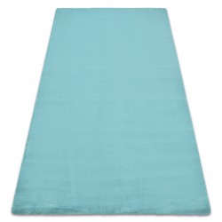 Carpet BUNNY aqua blue IMITATION OF RABBIT FUR