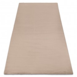 Carpet BUNNY taupe beige IMITATION OF RABBIT FUR