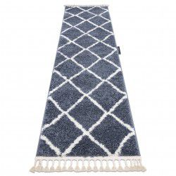 Carpet, Runner BERBER CROSS grey - for the kitchen, corridor & hallway