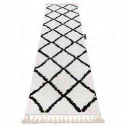 Carpet, Runner BERBER CROSS white - for the kitchen, corridor & hallway