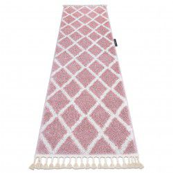 Carpet, Runner BERBER TROIK pink - for the kitchen, corridor & hallway