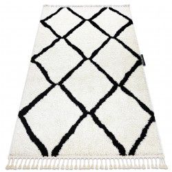 Carpet BERBER CROSS white Fringe Berber Moroccan shaggy