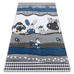 Carpet PETIT FARM ANIMALS blue