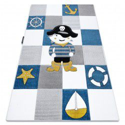 Carpet PETIT CORSAIR PIRATE SHIP ANCHOR blue