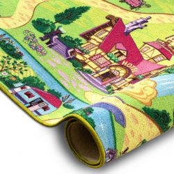 Fitted carpet CANDY TOWN for children, streets, town