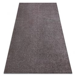 Carpet wall-to-wall SANTA FE brown 42 plain, flat, one colour
