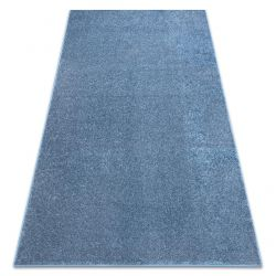 Carpet wall-to-wall SANTA FE blue 74 plain, flat, one colour