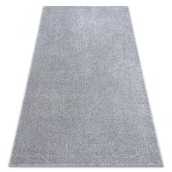 Carpet wall-to-wall SANTA FE silver 92 plain, flat, one colour