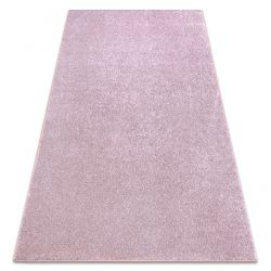 Carpet wall-to-wall SAN MIGUEL blush pink 61 plain, flat, one colour