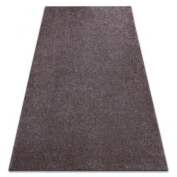 Carpet wall-to-wall SAN MIGUEL brown 41 plain, flat, one colour