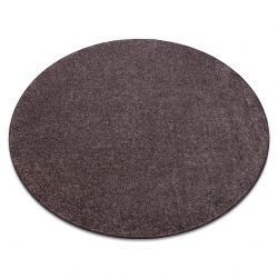 Carpet, round SANTA FE brown 42 plain, flat, one colour