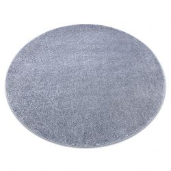 Carpet, round SANTA FE silver 92 plain, flat, one colour
