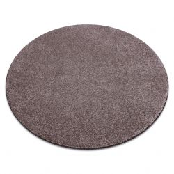 Carpet, round SAN MIGUEL brown 41 plain, flat, one colour