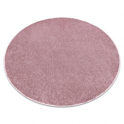 Carpet, round SANTA FE blush pink 60 plain, flat, one colour