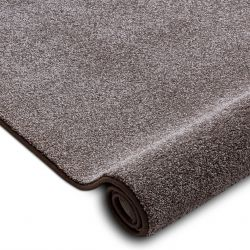 Fitted carpet SAN MIGUEL brown 41 plain, flat, one colour