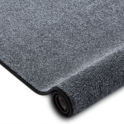 Fitted carpet SAN MIGUEL grey 97 plain, flat, one colour