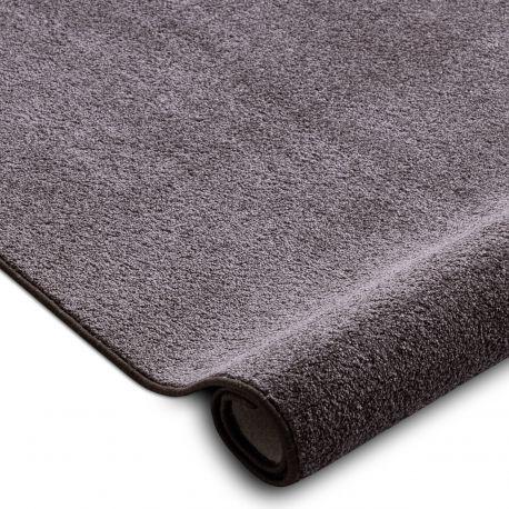 Fitted carpet SANTA FE brown 42 plain, flat, one colour