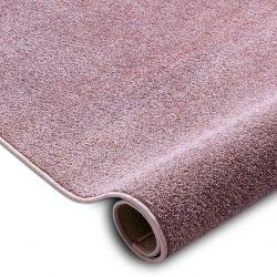 Fitted carpet SANTA FE blush pink 60 plain, flat, one colour