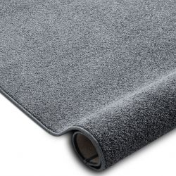 Fitted carpet SANTA FE grey 97 plain, flat, one colour