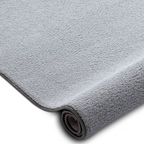 Fitted carpet VELVET MICRO grey 90 plain, flat, one colour