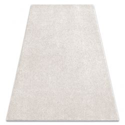 Carpet wall-to-wall SAN MIGUEL cream 031 plain, flat, one colour