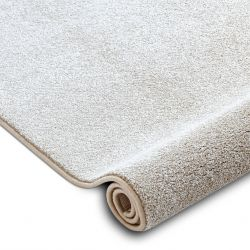 Fitted carpet SAN MIGUEL cream 031 plain, flat, one colour