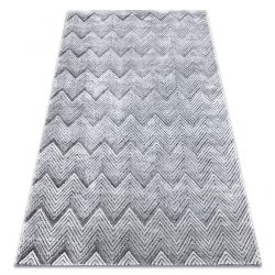 Carpet Structural SIERRA G5010 Flat woven grey - geometric, zigzag