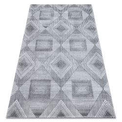Carpet Structural SIERRA G5011 Flat woven grey / black - geometric, diamonds